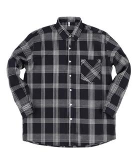 GF Shadow Check Shirt Black