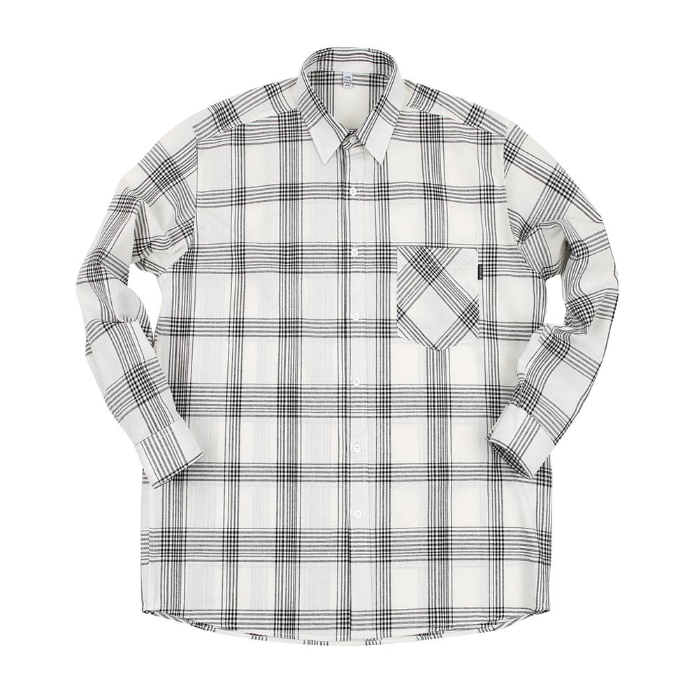 GF Shadow Check Shirt White