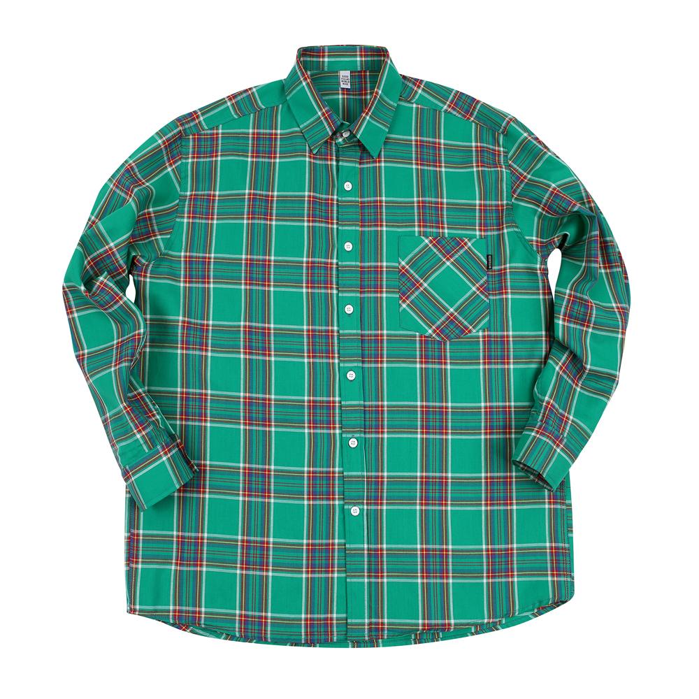GF Madras 2 Check Shirt Green
