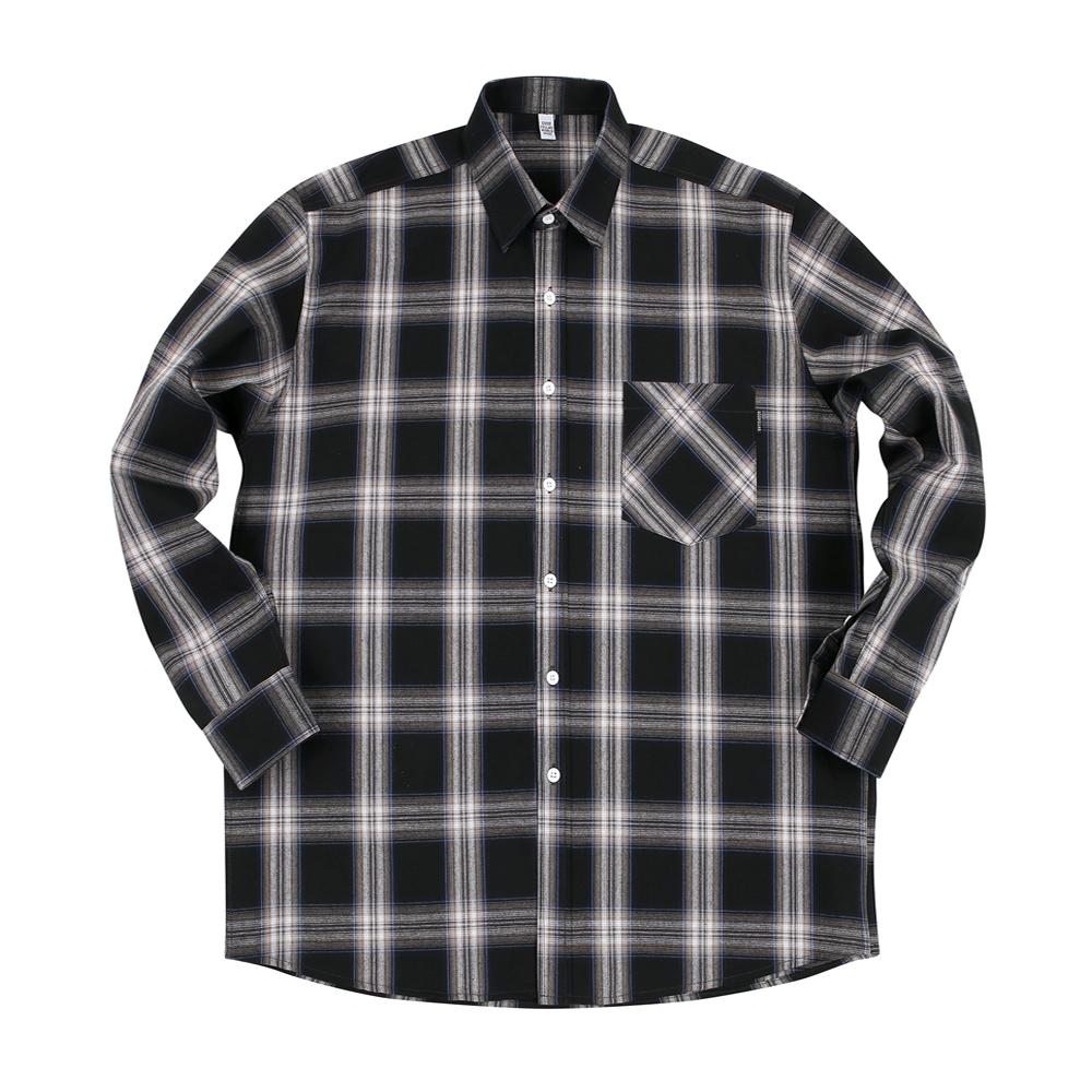 GF Madras 1 Check Shirt Black