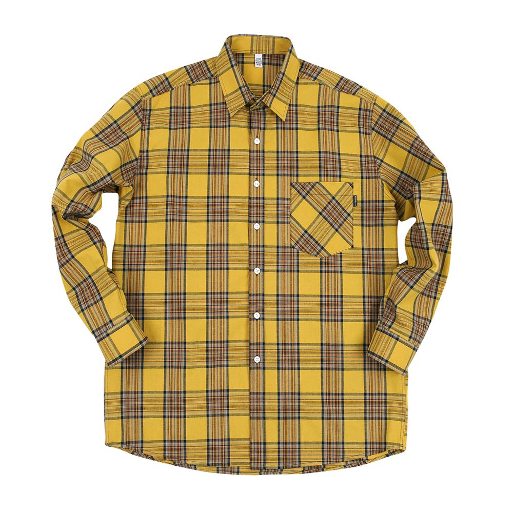 GF Madras 1 Check Shirt Yellow