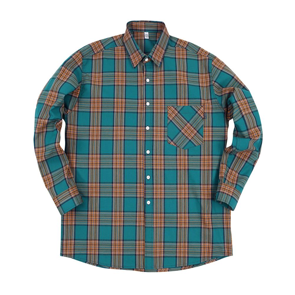 GF Madras 1 Check Shirt Teal