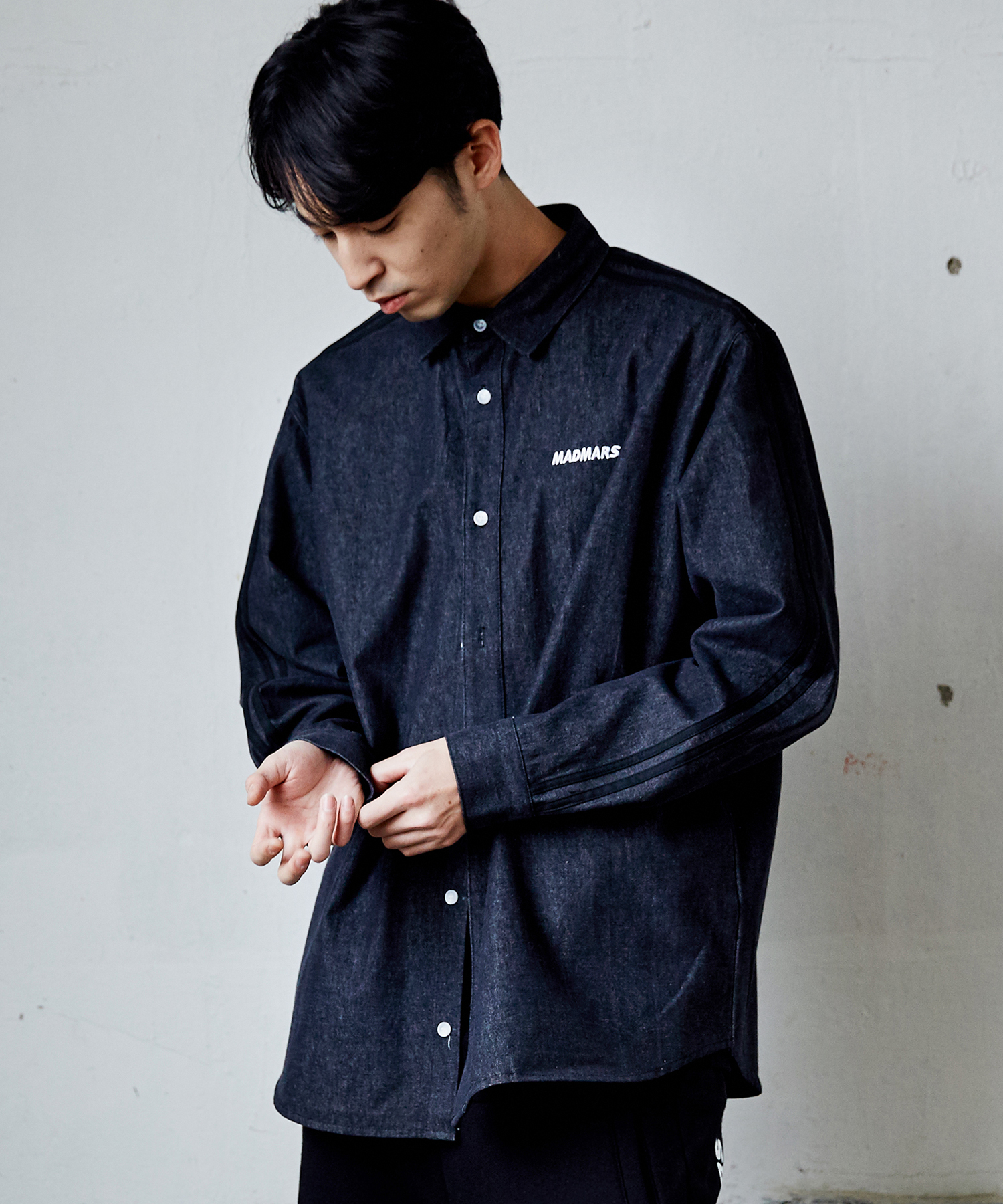2 LINE DENIM SHIRTS_BLACK