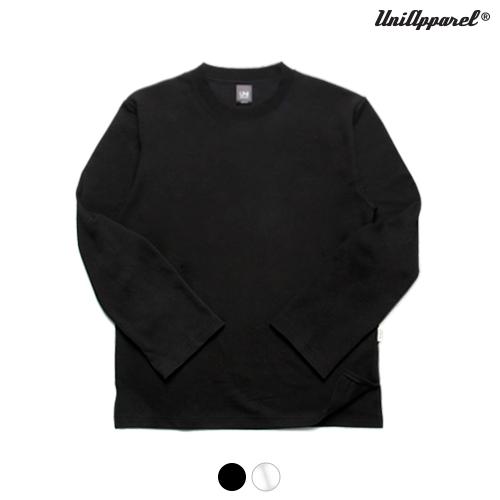 [유니어패럴] 더블코튼 루즈핏 롱슬립 (블랙)