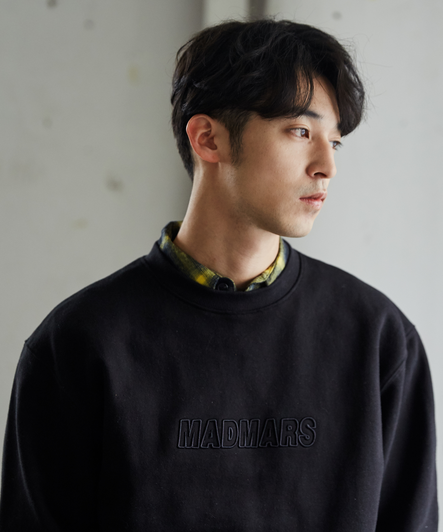 RELIEF EMBROIDERY SWEATSHIRTS_BLACK