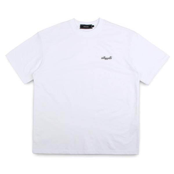 실루엣 반팔 티셔츠 화이트