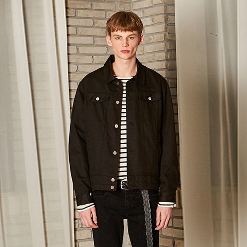 DANISH WASHING COTTON JACKET_BLACK