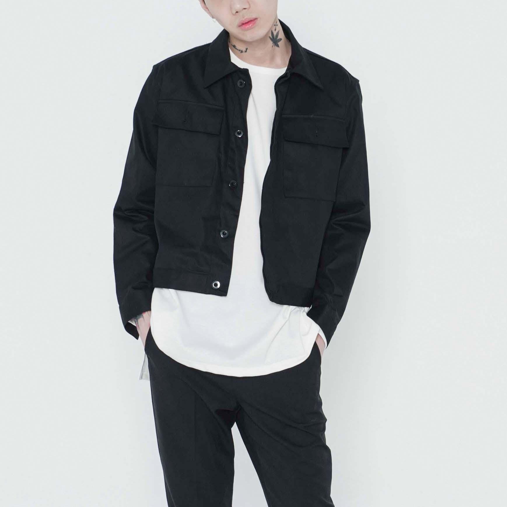 [B1A4 바로 착용]히든 크롭 자켓