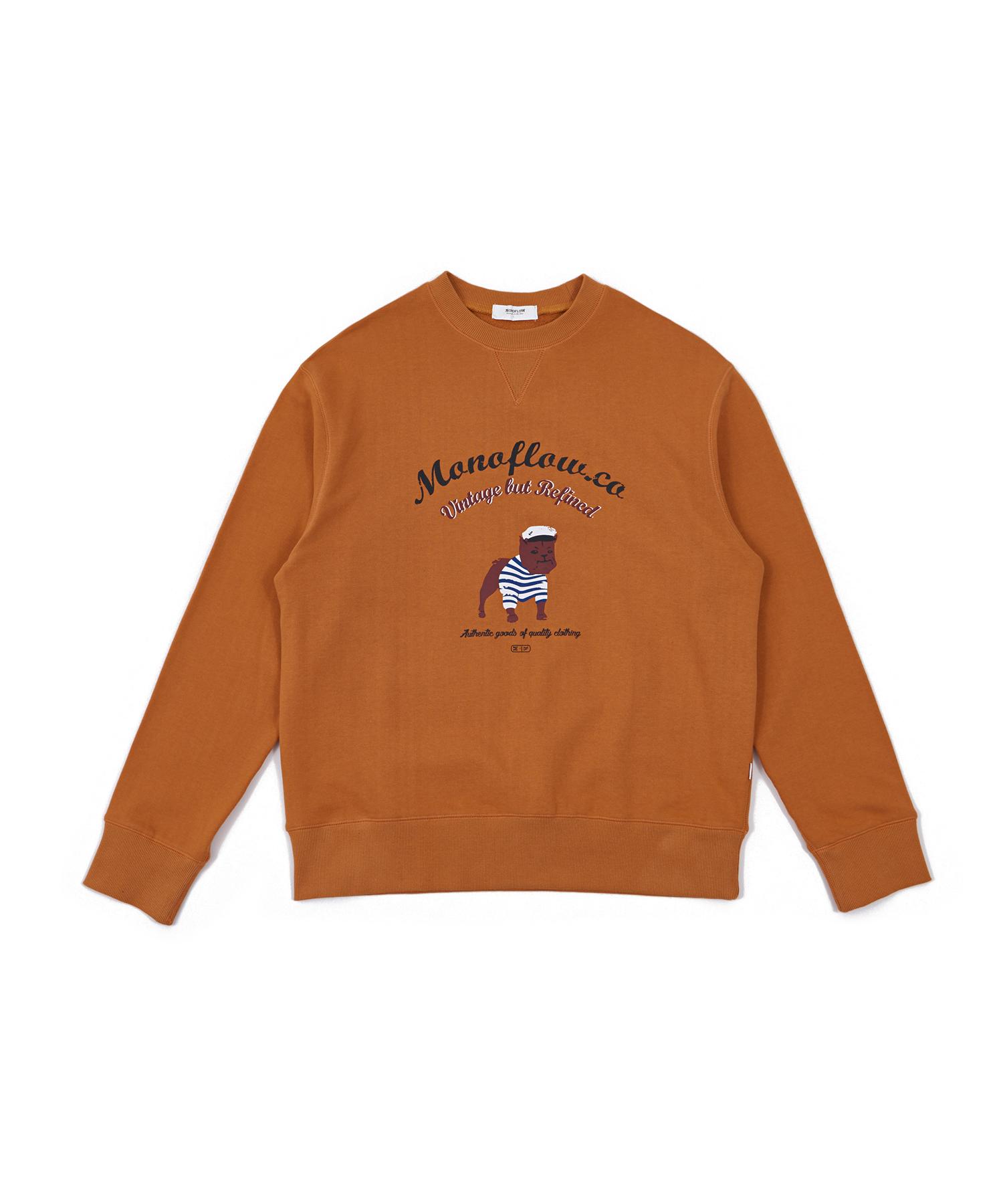 모노플로우 프렌치독 맨투맨 티셔츠
