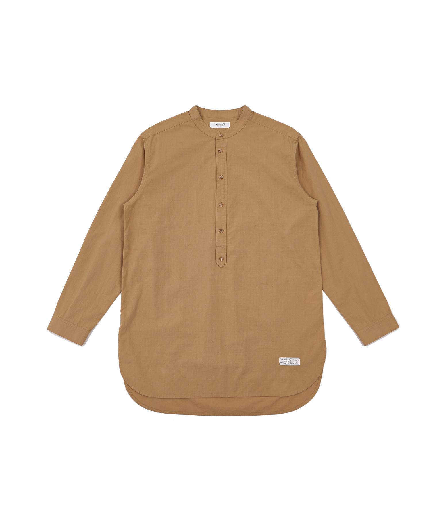 모노플로우 베이직 롱 헨리넥 셔츠