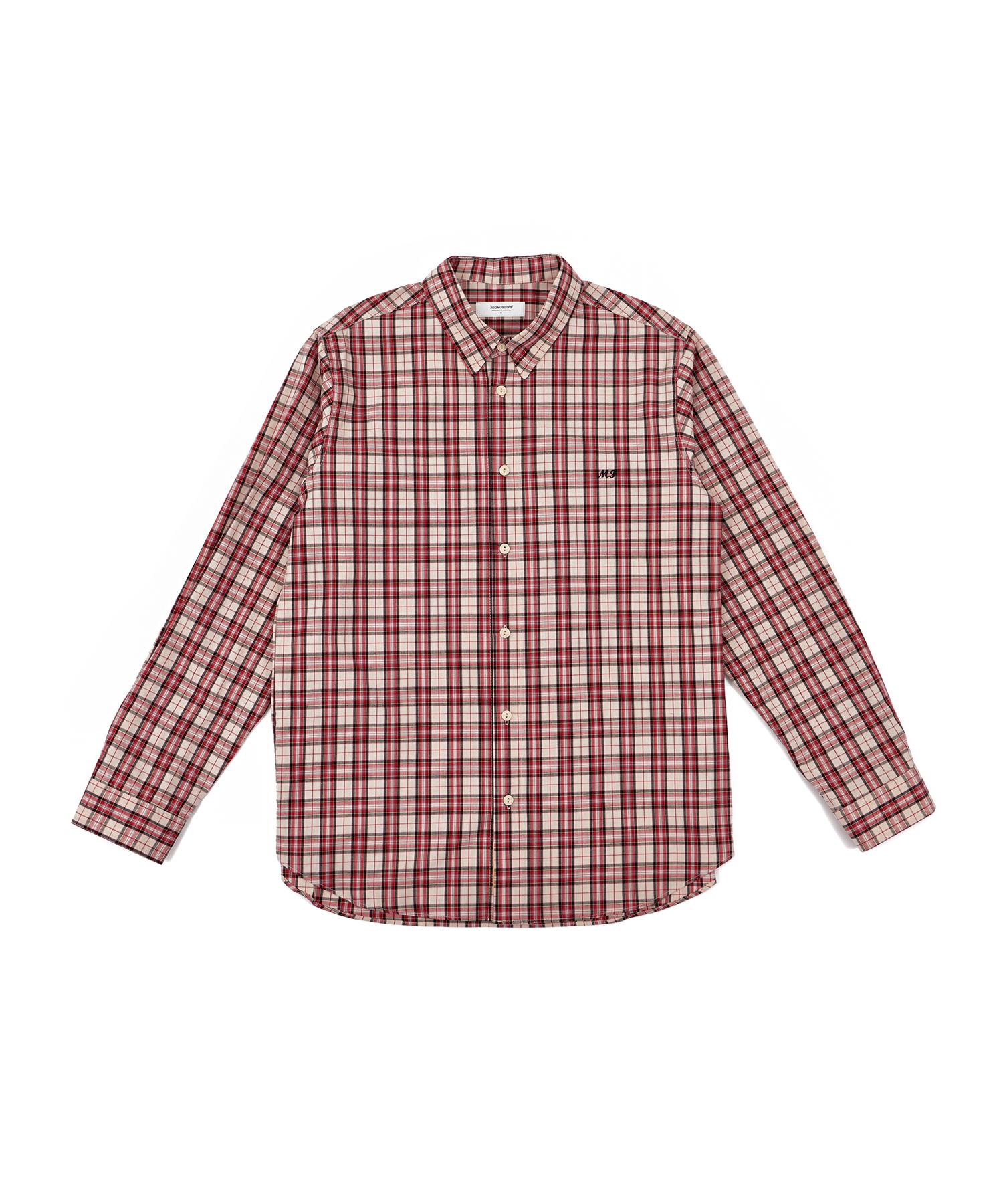 모노플로우 스프링 체크 셔츠