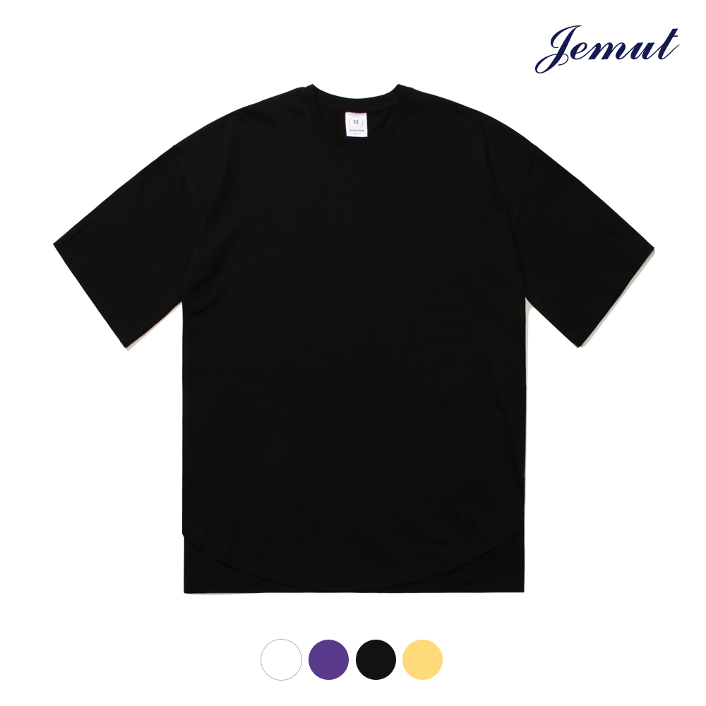 [제멋] 오버핏 절개반팔 블랙 DMST2116