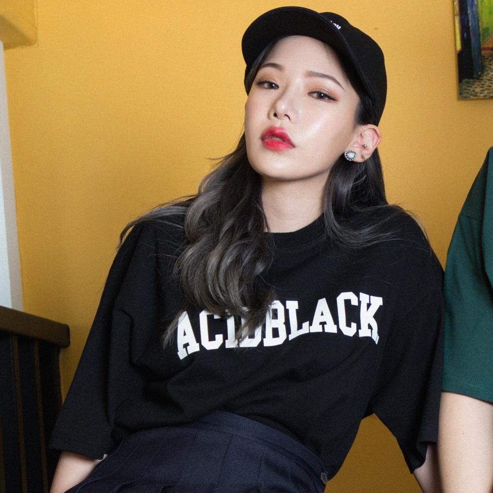 [에시드블랙] ACIDBLACK - ARCH LOGO TEE (BLACK) 반팔 반팔티 티셔츠