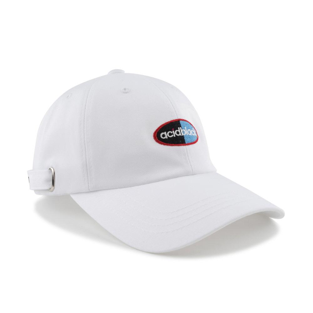 [에시드블랙] ACIDBLACK - ACID MAX BALL CAP (WHITE) 볼캡 야구모자