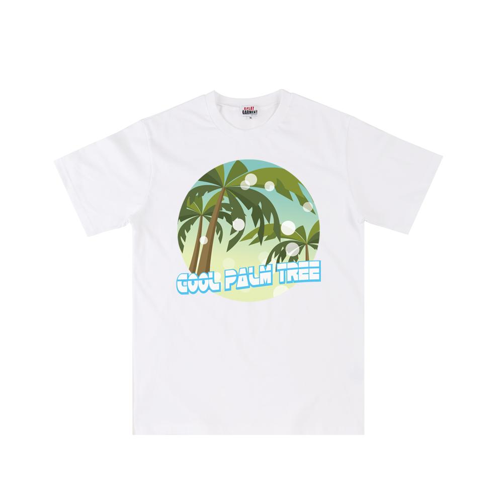 [지플랫] 쿨 팜트리 반팔 티셔츠 (WHITE)