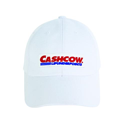 CASHCOW PARODY BALLCAP_WHITE