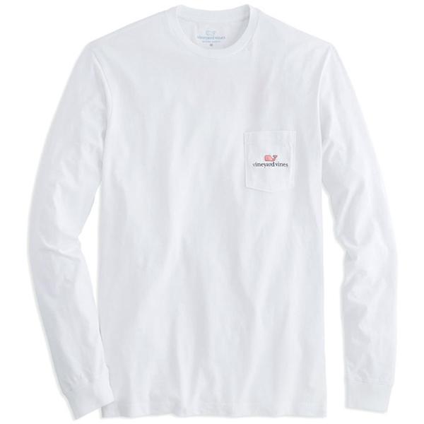 빈야드바인스 그래픽 포켓 긴팔 티셔츠 WHITE 1V0250