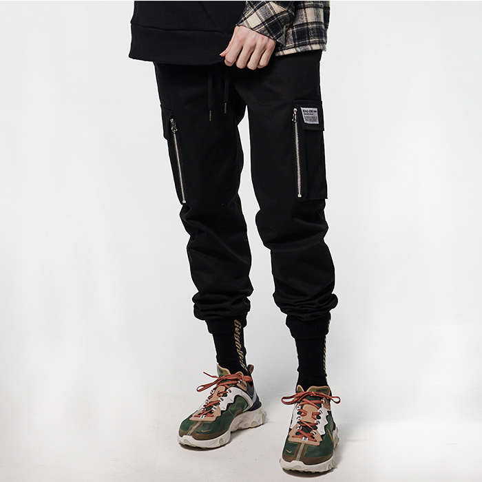 [데드엔드] BLACK CARGO ZIPPER JOG PANTS