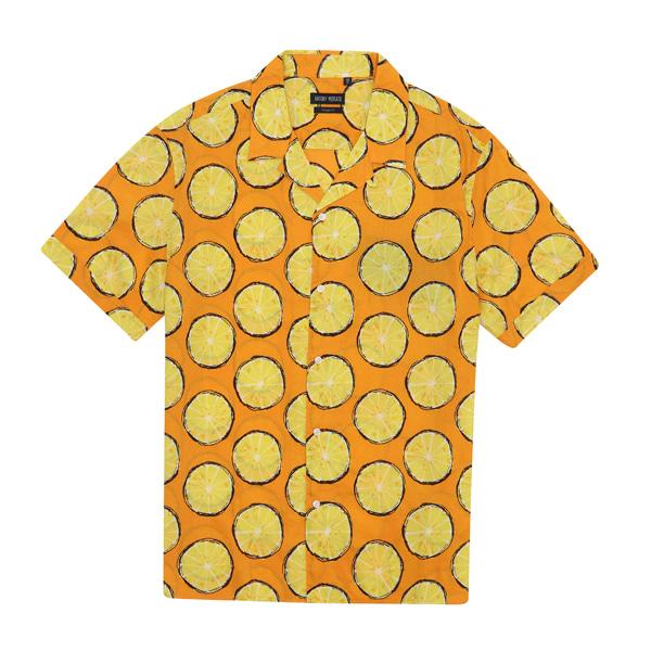 [Antony Morato]남성 올오버 오렌지 패턴 반팔셔츠_MMHSH5A35-818