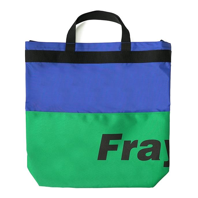 [프레시안티유스] Fray logo 2way bag GREEN