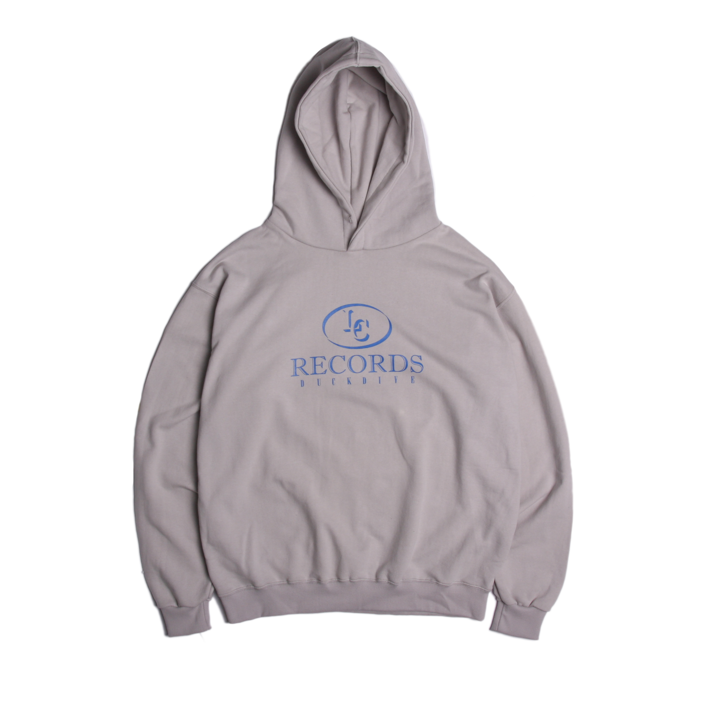 [DUCKDIVE] RECORD HOODIE _ COOL GRAY