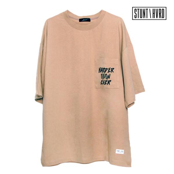 [스턴트] STUNT Harder Pocket Over T-Shirts (Beige)