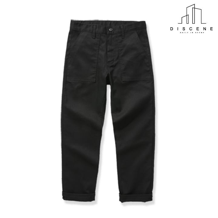 [크루비단독]디씬 - cotton fatigue pants 퍼티그팬츠 - Black