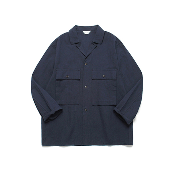 Ancho Wide Shirt_Dark Navy