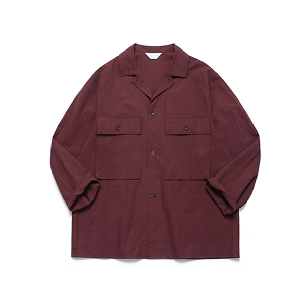 Ancho Wide Shirt_Wine
