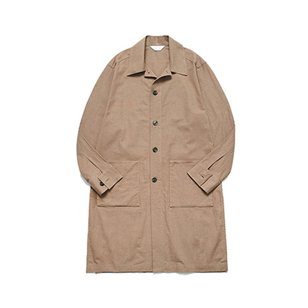 Long Slip Solid Shirt Coat