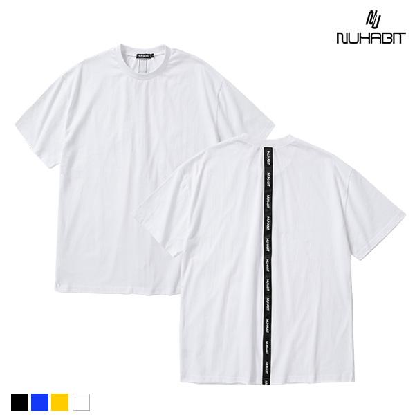 뉴해빗 - taping back line T-shirts - 세로테이핑반팔