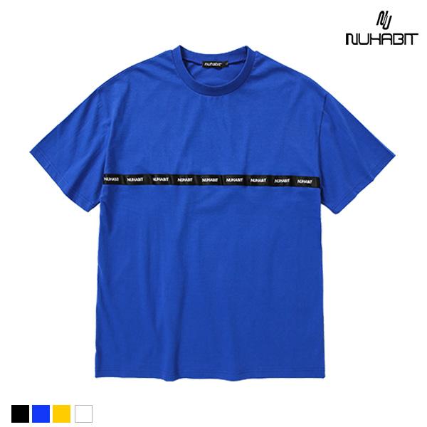 뉴해빗 - taping chest line T-shirts - 가로테이핑반팔