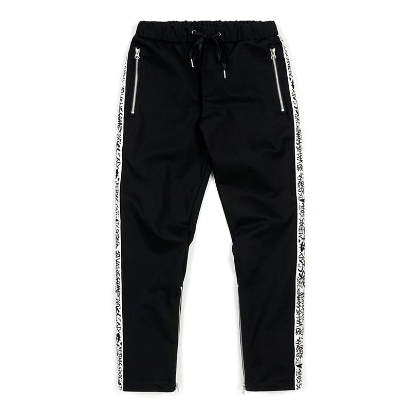 [시즌오프]STIGMA LINE ZIPPER JOGGER PANTS BLACK - WHITE