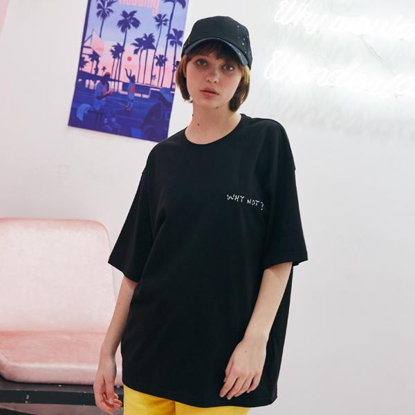 [unisex] why not T (black)