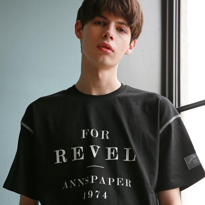 유니섹스 레벨 포인트 티셔츠 블랙