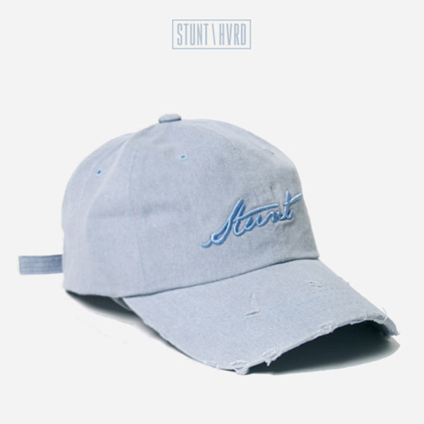 [스턴트] Damaged Denim Logo Cap (Ash Blue)