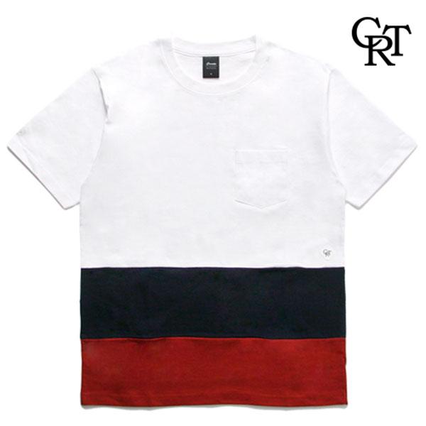 [코로츠] CRT 3 Color Pocket Tee (White/Navy/Burgundy)