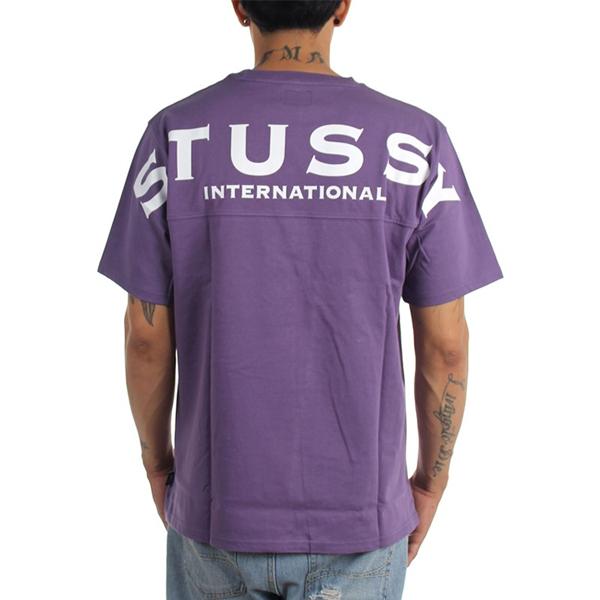 스투시 인터내셔널 크루넥 티셔츠 PURPLE 114913
