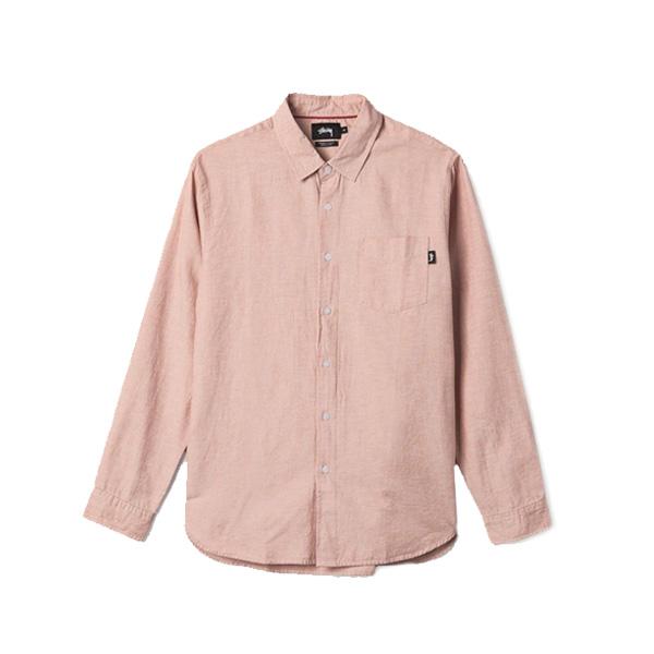 [해외]스투시 클래식 린넨 롱슬리브 셔츠 PINK 111873