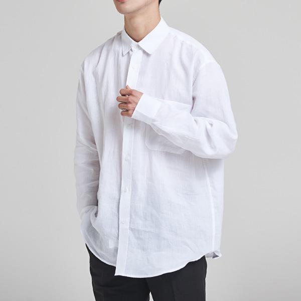 [올앤드] 린넨 오버핏 셔츠_LMBSH2609-100