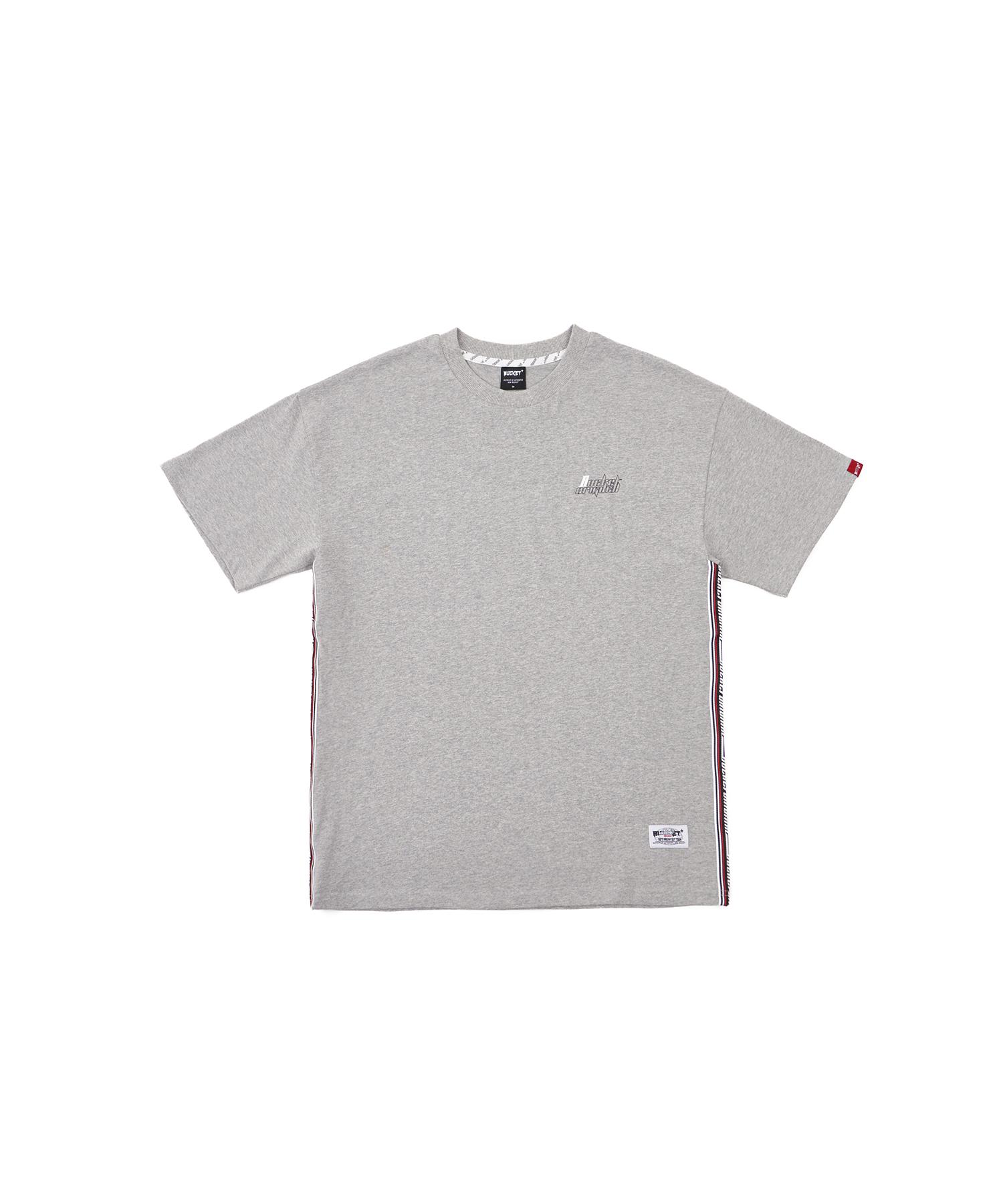 버켓 테이핑 트리밍 반팔 티셔츠