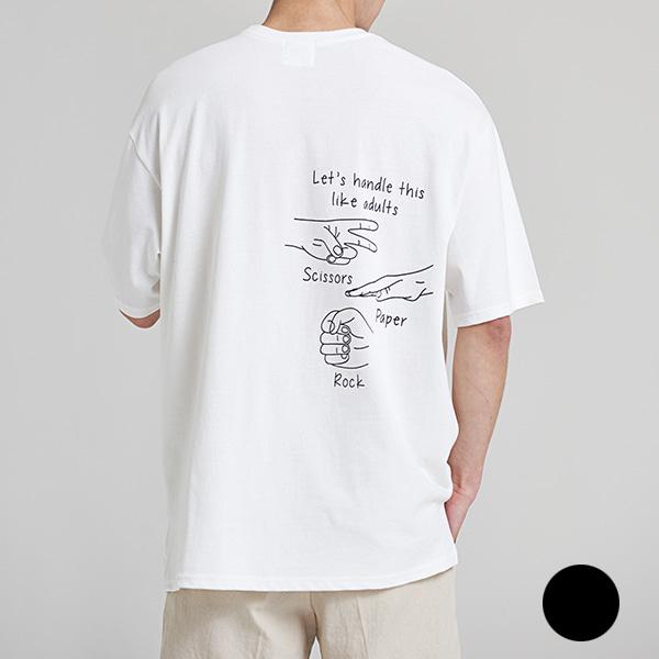 [올앤드]남성 가위바위보 반팔 티셔츠_LMTRH2133
