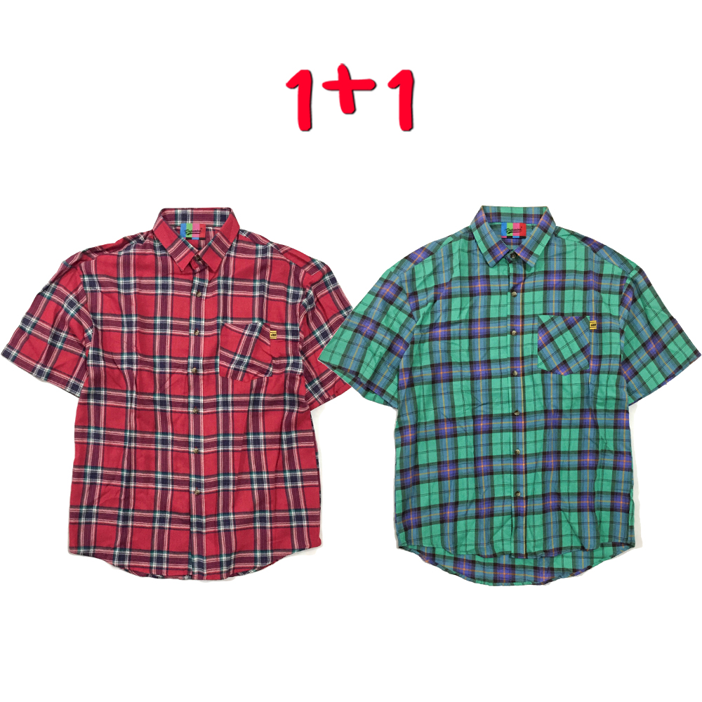 [1+1] Light Tartan Check Shirt(2color)(unisex)