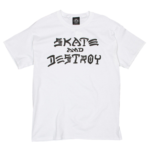Skate And Destroy Tee -White