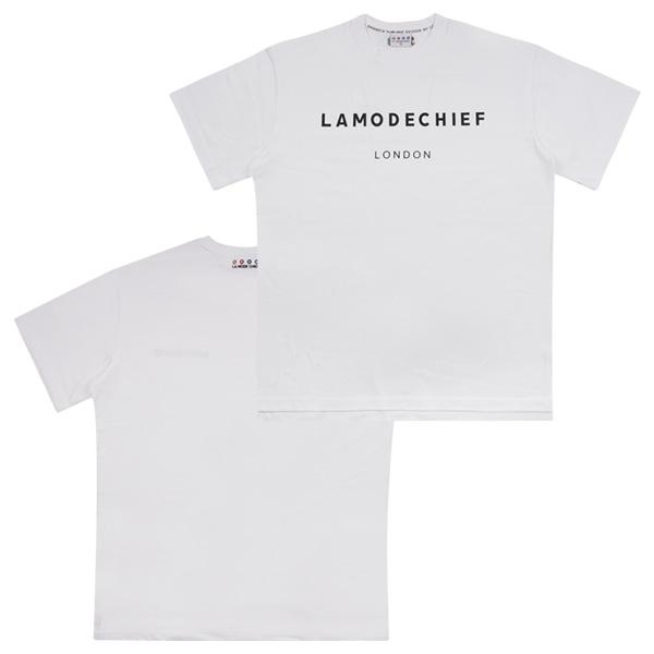 LAMC LONDON LOGO SHORT TEE (WHITE)