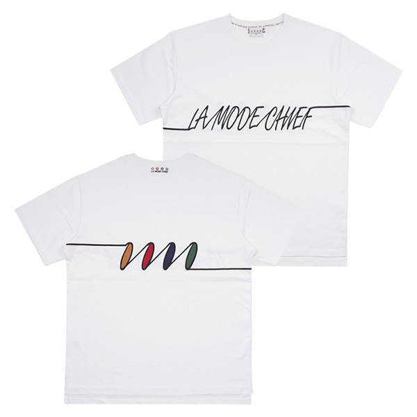 LAMC FREQUENCY SHORT TEE (WHITE)