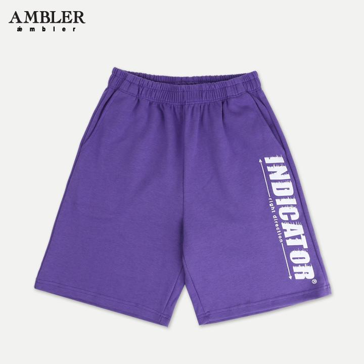 [엠블러]AMBLER 신상 트레이닝 5부 반바지 ASP111-퍼플