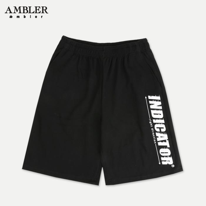 [엠블러]AMBLER 신상 트레이닝 5부 반바지 ASP111-블랙