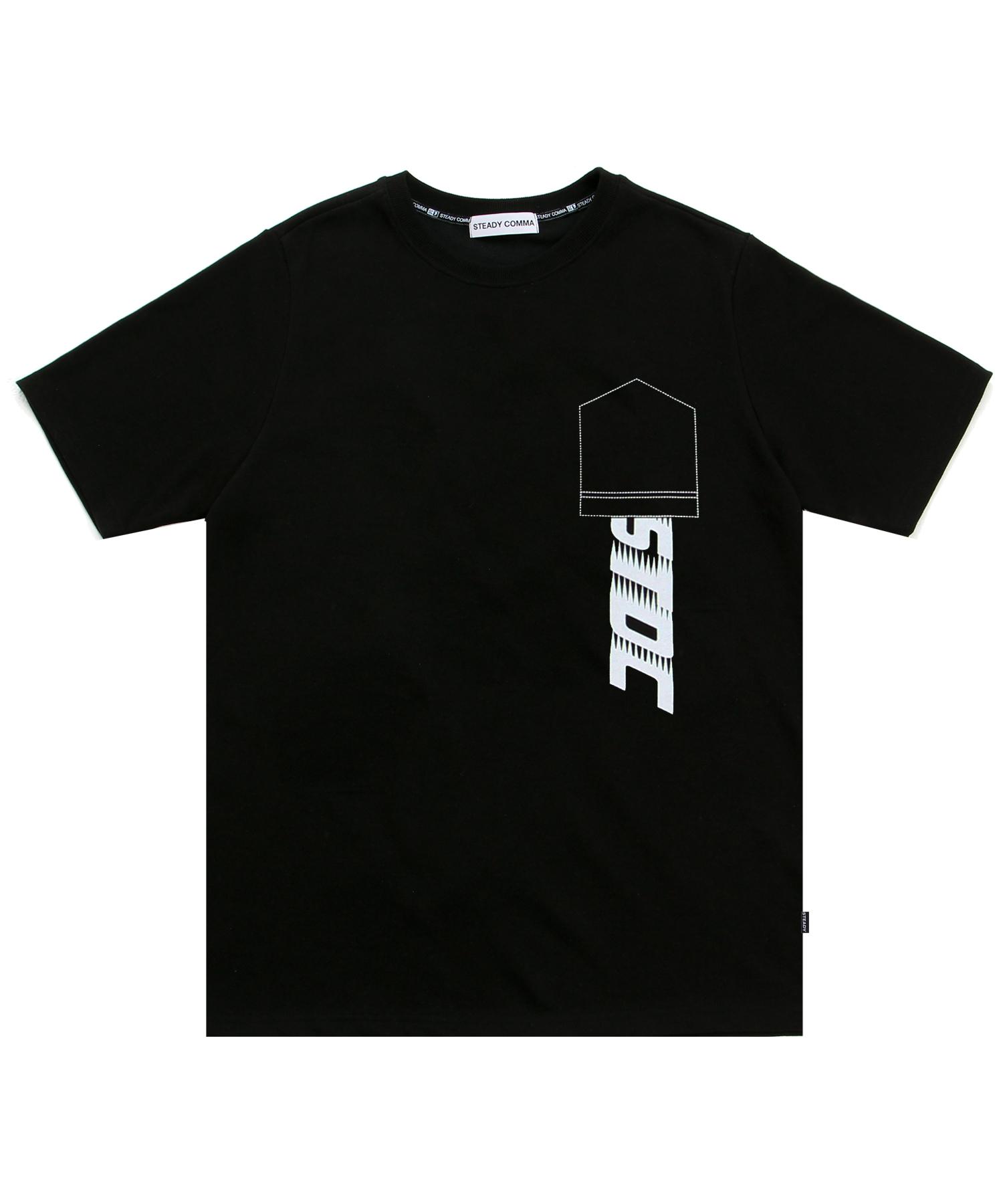 REVERSE POCKET LOGO T-SHIRT BLACK