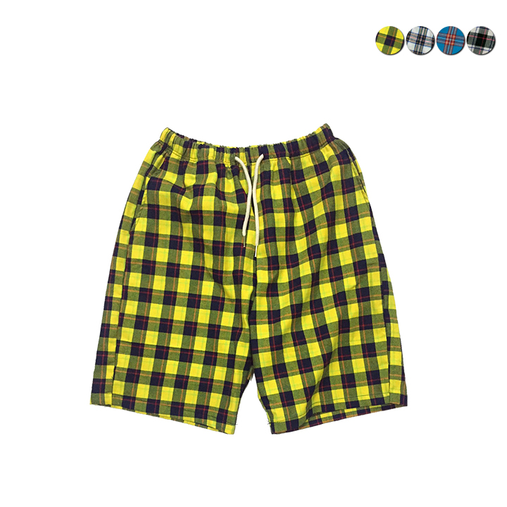 Overfit Check Shorts(4color)(unisex)